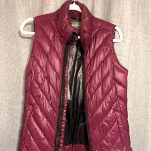 Maroon Double-Lined Vest, Like New!